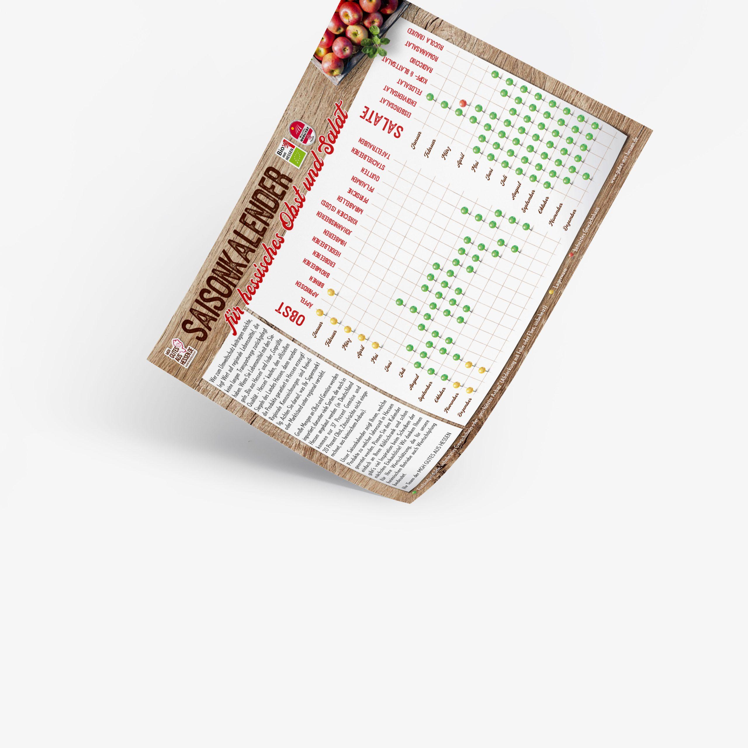Saisonkalendar von Gutes aus Hessen