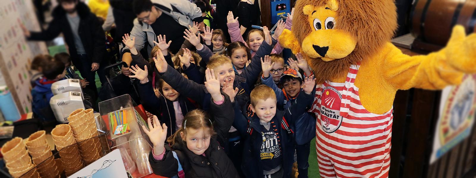 Frankfurter Kindergartenkinder zu Besuch auf dem Stand der MGH auf der Land & Genuss 2019
