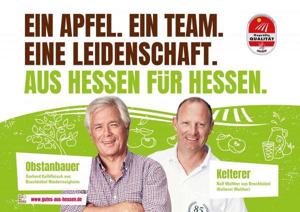 Plakatmotiv Wertschöpfungskette Obstanbauer-Kelterei
